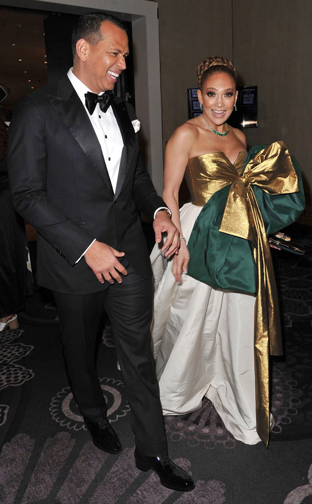 Alex Rodriguez, Jennifer Lopez, 2020 Golden Globe Awards, Candids