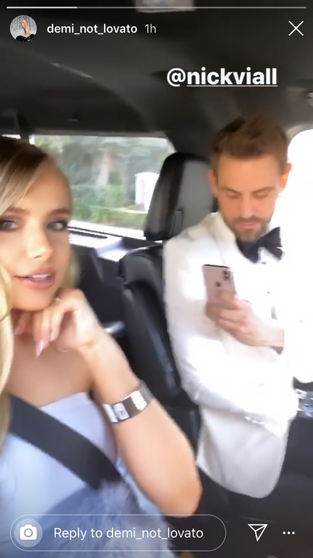 Nick Viall, Demi Burnett, Pre Golden Globes 2020