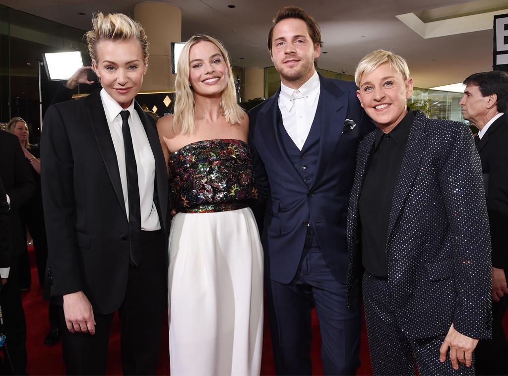 Portia de Rossi, Margot Robbie, Tom Ackerley, Ellen DeGeneres