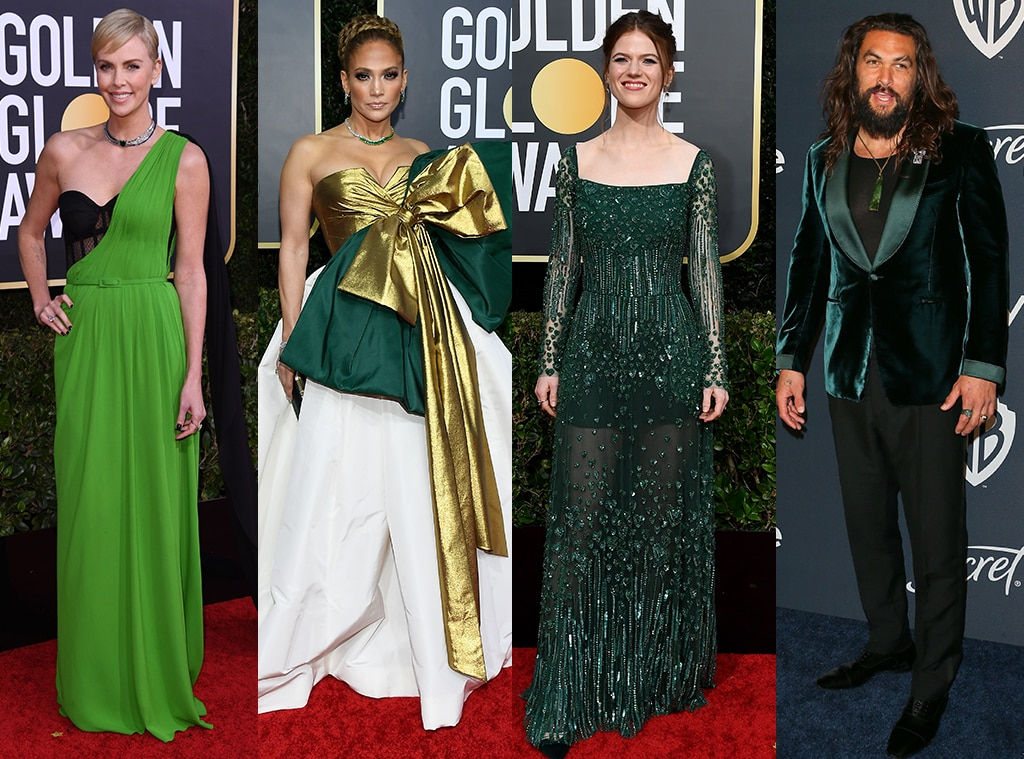 Golden in Green from Golden Globes 2020 Red Carpet Trends