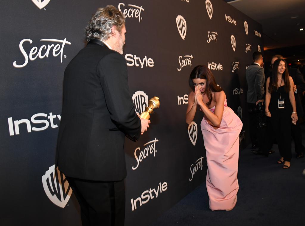 Joaquin Phoenix, Sarah Hyland, 2020 Golden Globe Awards, Party Pics
