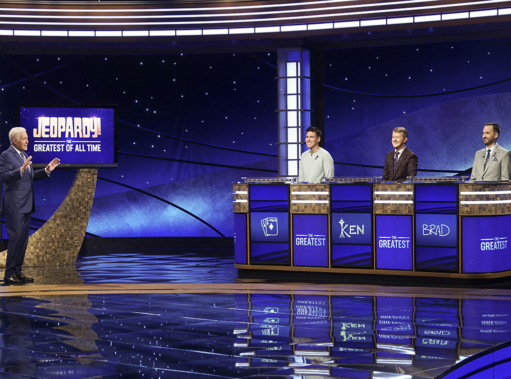 Alex Trebeck, James Holzhauer, Ken Jennings, Brad Rutter, Jeopardy! The Greatest of All Time