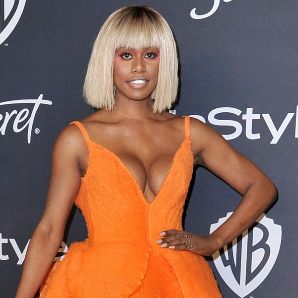 """Laverne Cox's """"Mary Poppins"""" Golden Globes Dress Fit 3 Celebs Underneath"""