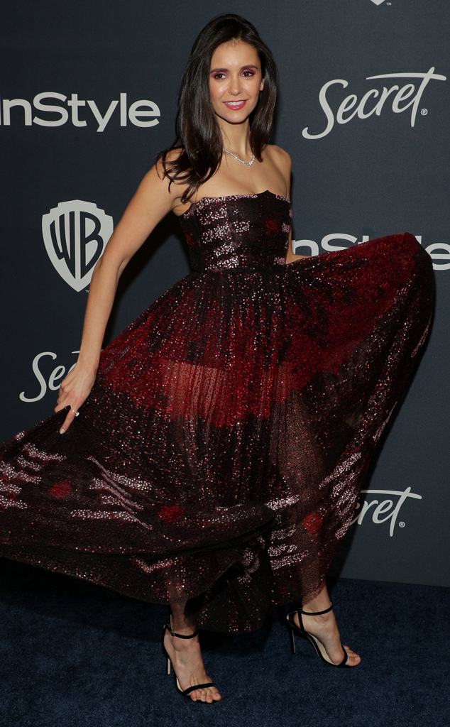 Nina Dobrev, 2020 Golden Globe Awards, Party Pics