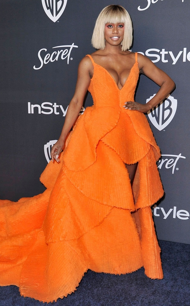 Laverne Cox, 2020 Golden Globe Awards, Party Pics