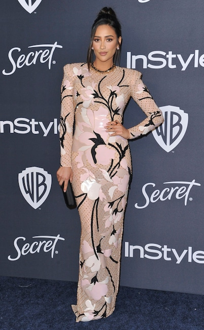 Shay Mitchell, 2020 Golden Globe Awards, Party Pics