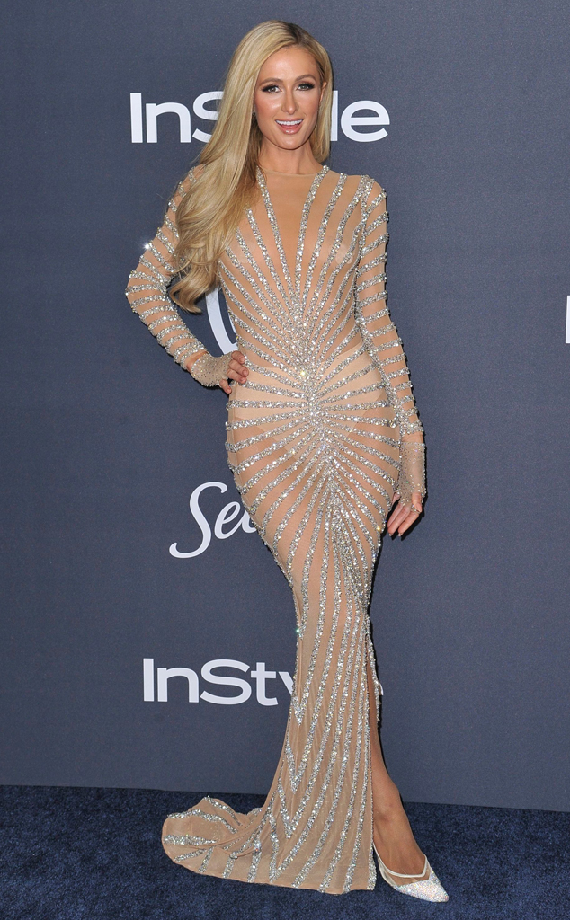 Paris Hilton, 2020 Golden Globe Awards, Party Pics