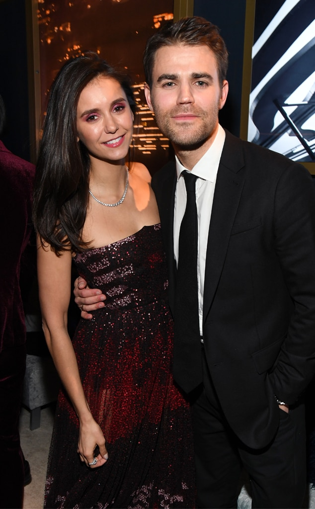 Nina Dobrev, Paul Wesley, 2020 Golden Globes, Inside Party Pics