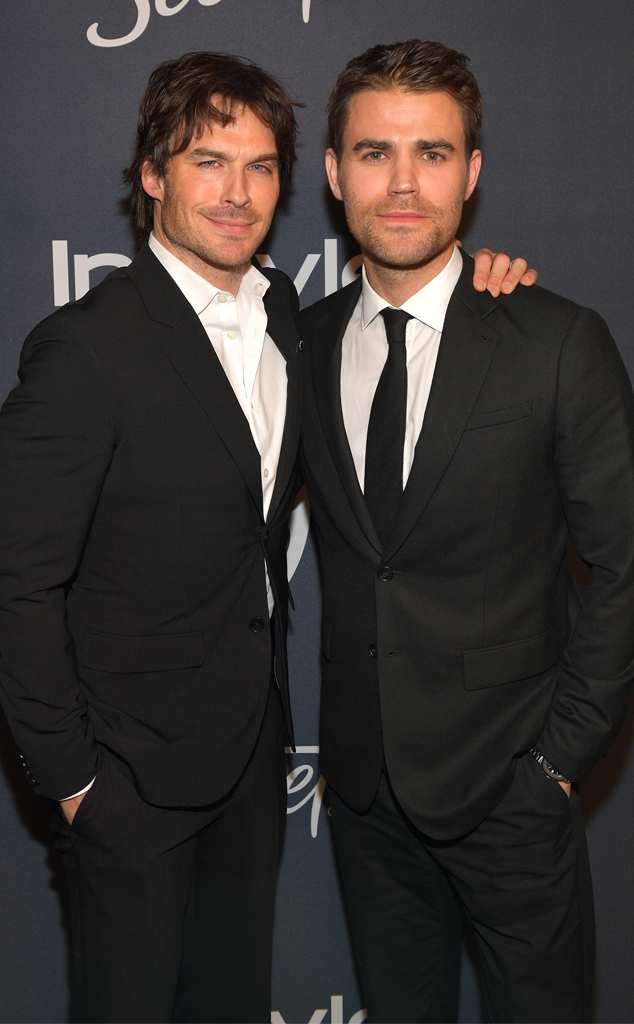 Ian Somerhalder, Paul Wesley, 2020 Golden Globes, Inside Party Pics