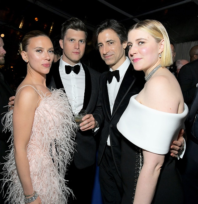 Scarlett Johansson, Colin Jost, Noah Baumbach, Greta Gerwig, 2020 Golden Globe Awards, Inside Party Pics
