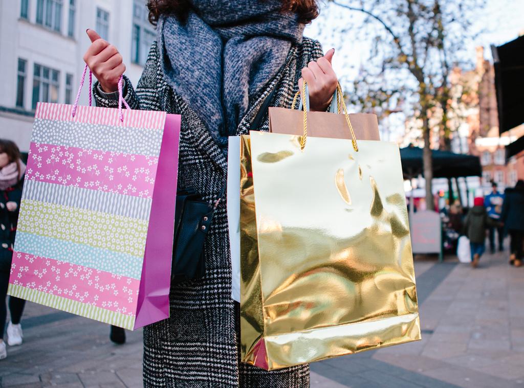 EComm: Winter Shopping, Stock Image