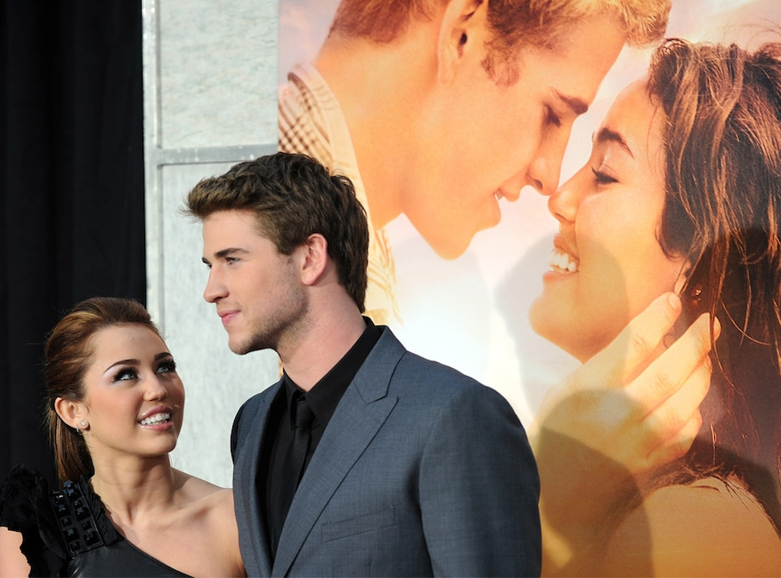 Miley Cyrus, Liam Hemsworth, The Last Song premiere