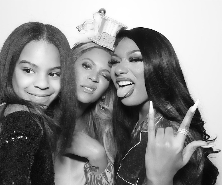 Beyonce, Blue Ivy Carter, Megan Thee Stallion, 2020, New Years Eve, Instagram