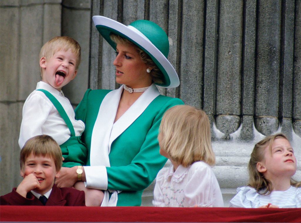 Prince Harry, Princess Diana, Prince William, 1988 Trooping the Colour