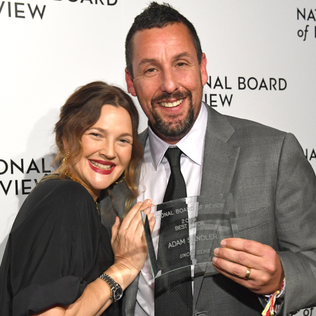 Watch Adam Sandler Get Emotional Talking About Drew Barrymore E Online