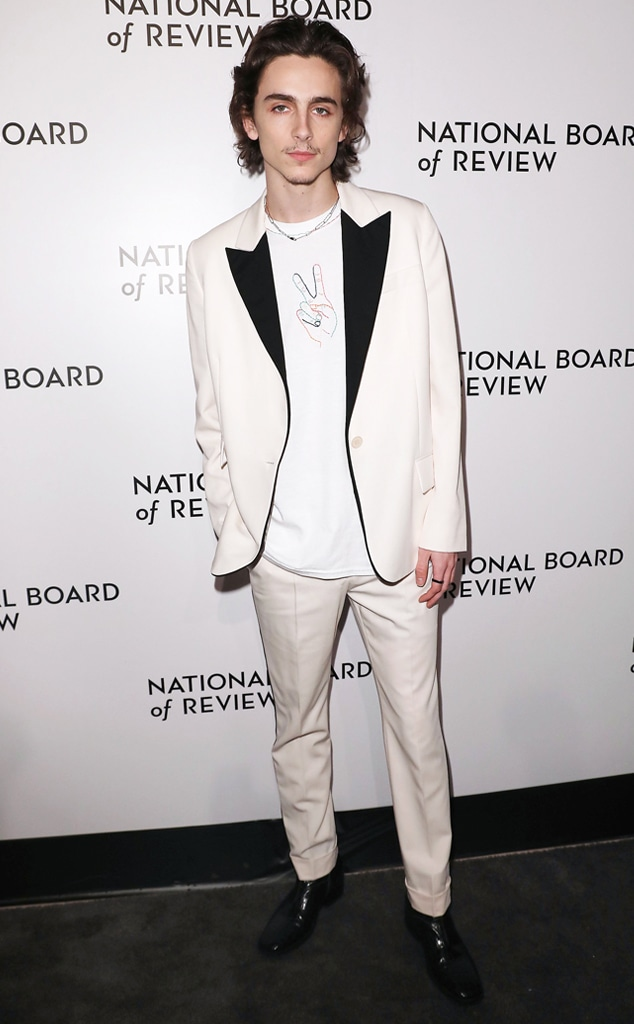 Timothee Chalamet, Fashion Police Widget