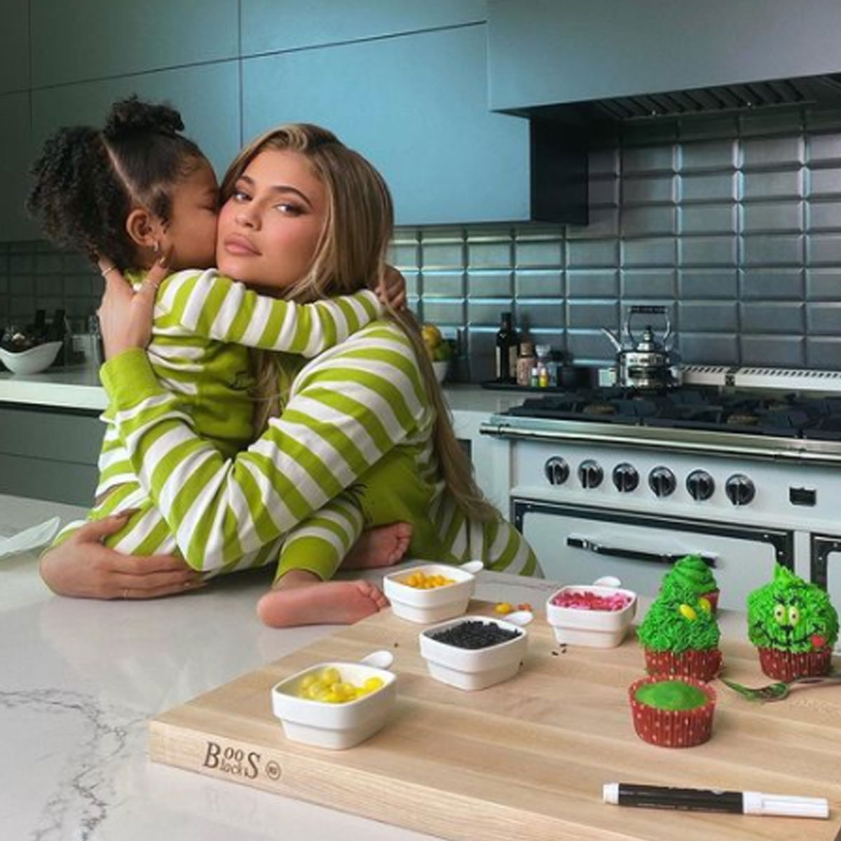 See Stormi Webster Shower Mom Kylie Jenner With Compliments in Holiday Baking Video