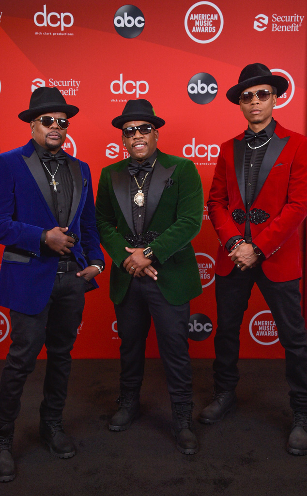 Ricky Bell, Michael Bivins, Ronnie Devoe, 2020 American Music Awards, AMAs, red carpet fashions