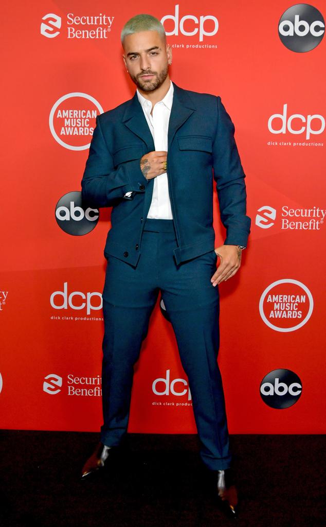 Maluma, 2020 American Music Awards, AMAs, red carpet fashions