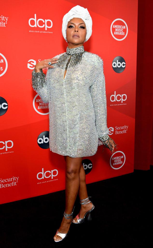 Taraji P. Henson, 2020 American Music Awards, AMAs, red carpet fashions