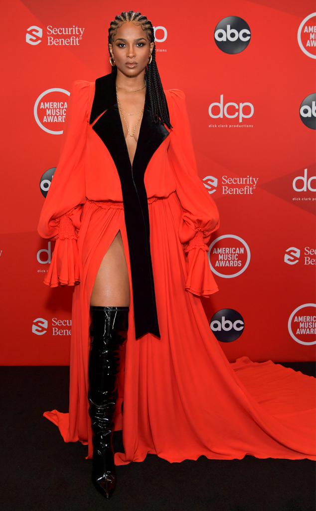 Ciara, 2020 American Music Awards, AMAs, red carpet fashions