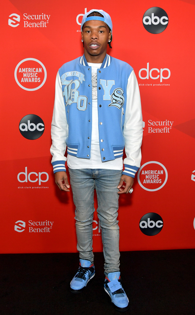 Lil Baby, 2020 American Music Awards, AMAs, red carpet fashions