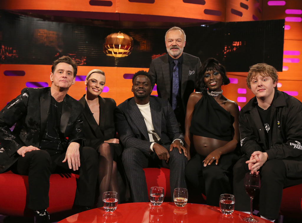 Jim Carrey, Margot Robbie, Daniel Kaluuya, Jodie Turner-Smith, Lewis Capaldi, Graham Norton Show