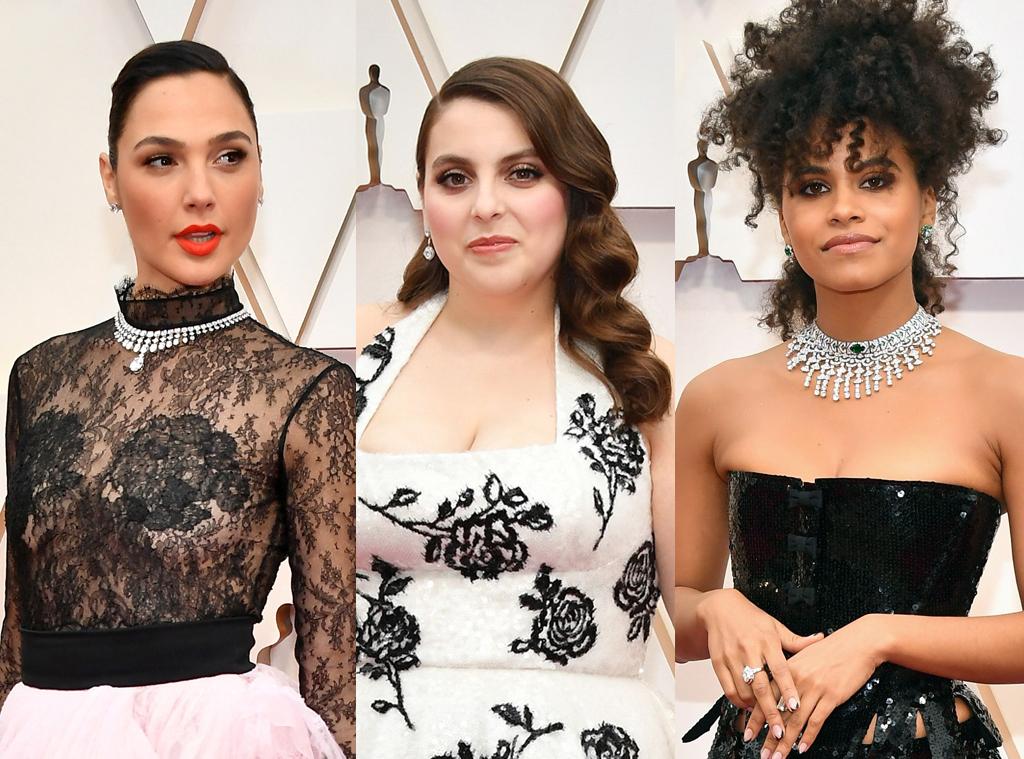 Oscars 2020 Drugstore Beauty, Beanie Feldstein, Gal Gadot, Zazie Beetz