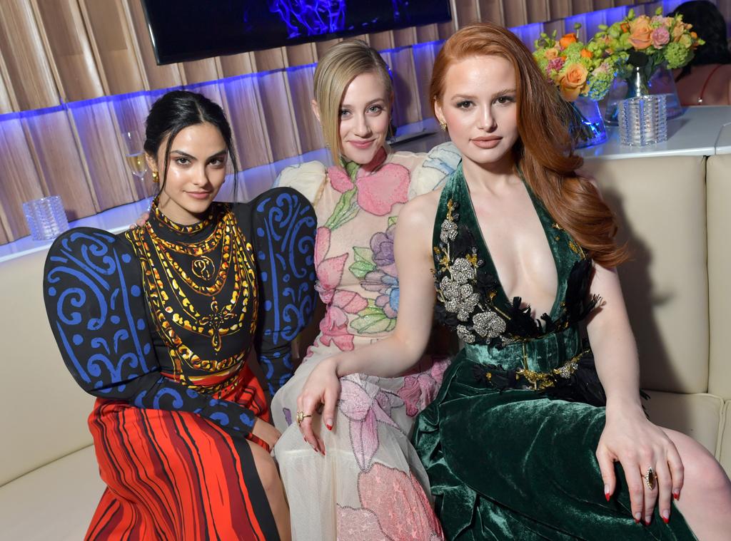 Camila Mendes, Lili Reinhart, Madelaine Petsch, 2020 Vanity Fair Oscar Party, Inside