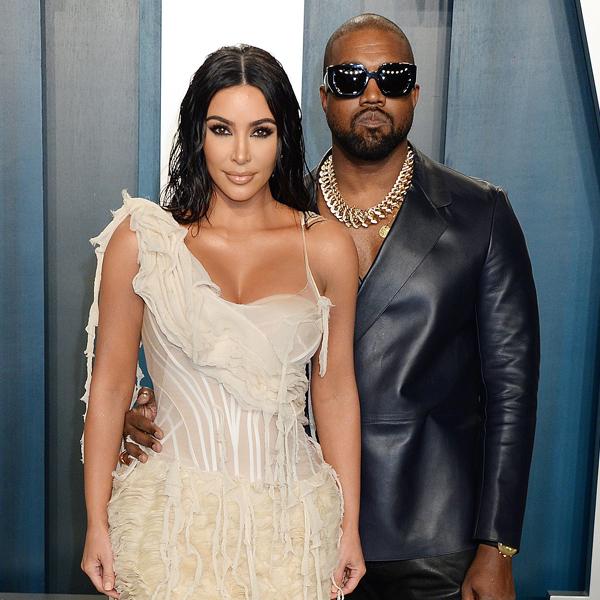 Kim Kardashian, Kanye West, 2020 Vanity Fair Oscar Party
