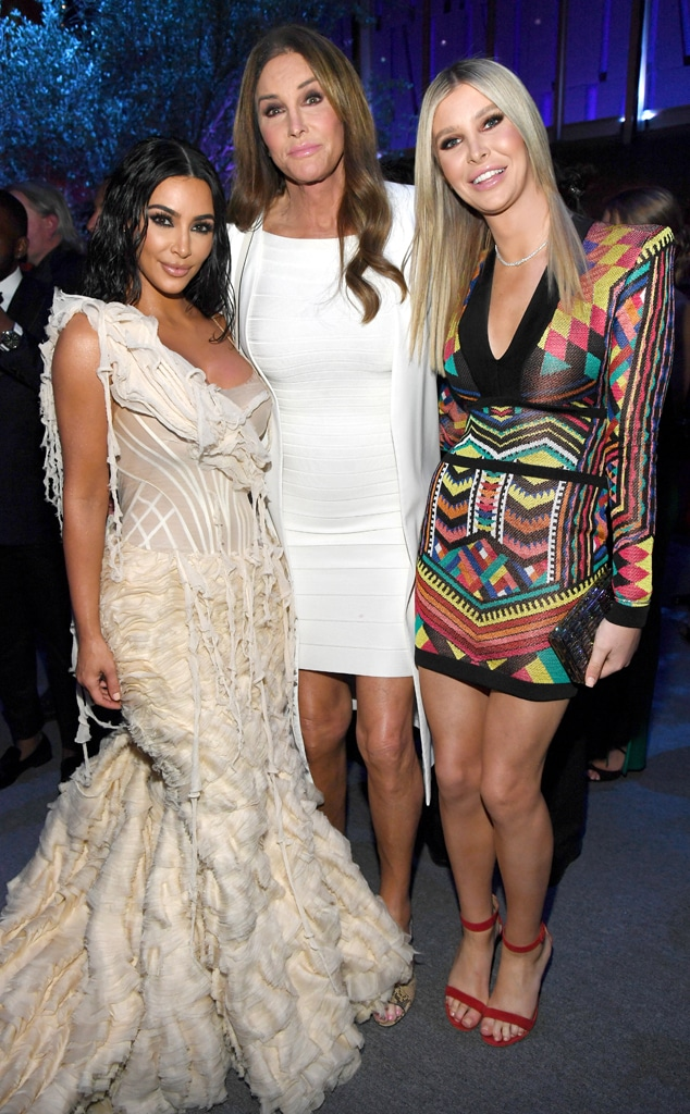 Kim Kardashian West, Caitlyn Jenner, Sophia Hutchins, 2020 Vanity Fair Oscar Party, Inside