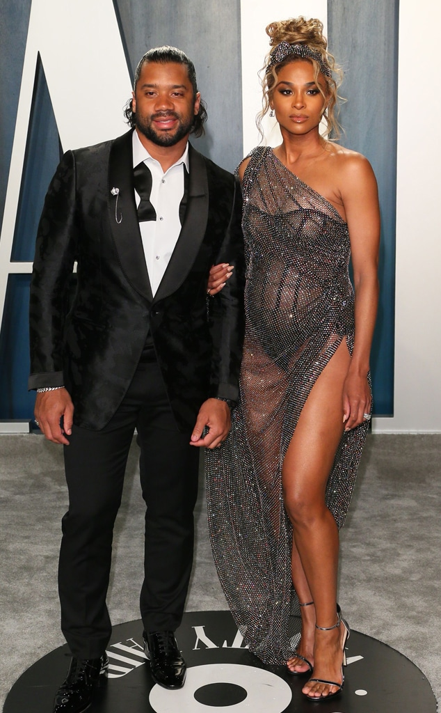 Russell Wilson, Ciara, 2020 Vanity Fair Oscar Party, Risque Looks at Oscars After-Parties
