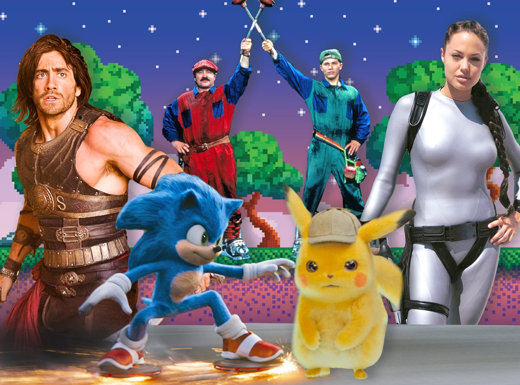 Video Game Movies, Sonic The Hedgehog, Lara Croft Tomb Raider, Prince of Persia, Detective Pikachu