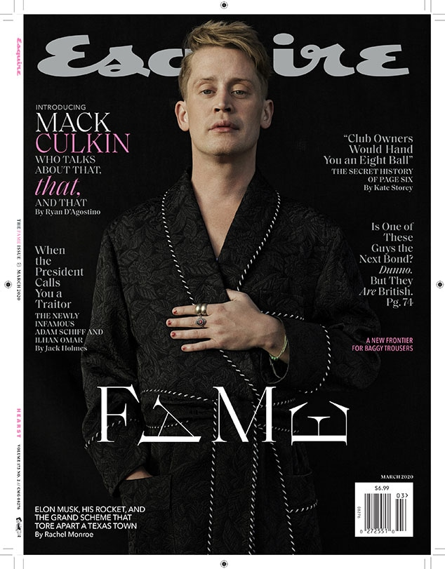 Macaulay Culkin, Esquire, March 2020 Issue