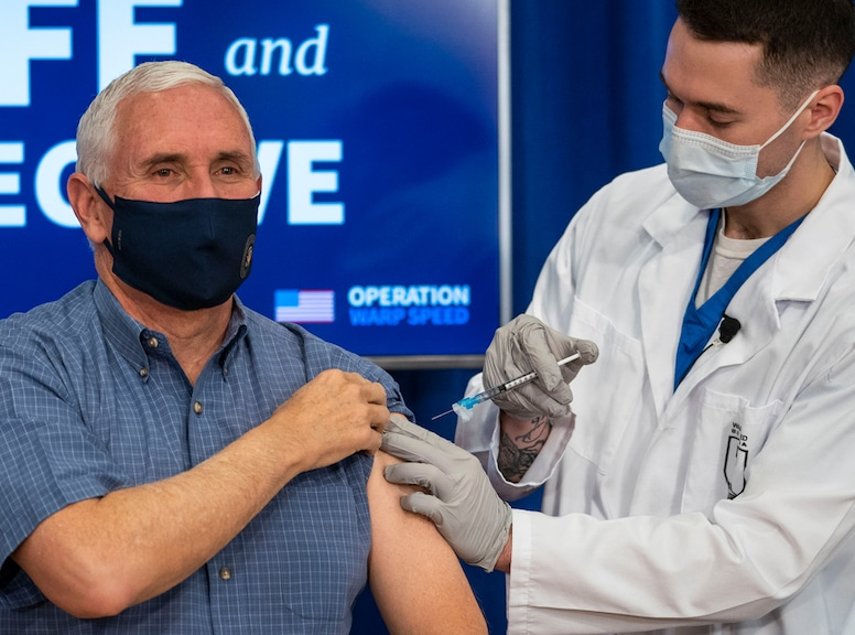 Mike Pence, COVID-19 vaccination
