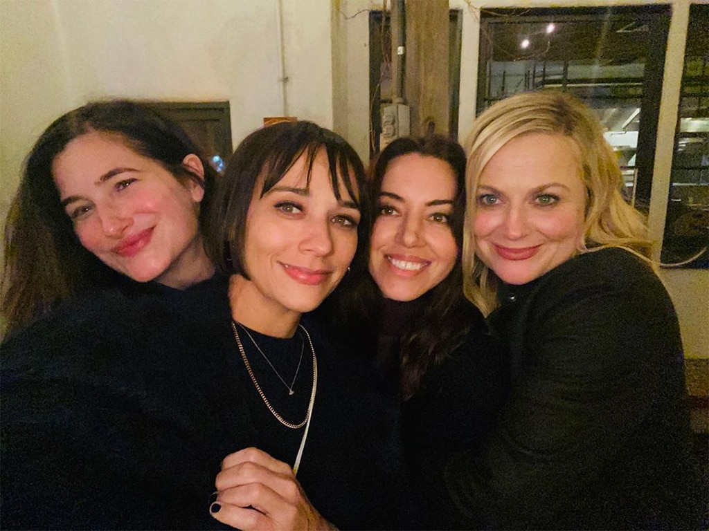Aubrey Plaza celebrates Galentine's Day with Parks and Recreation reunion photo