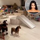 Kim Kardashian nous fait visiter la salle de jeux de ses enfants