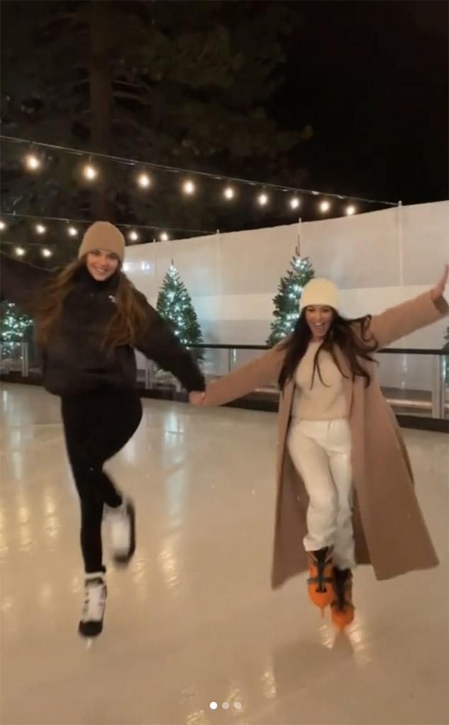 Kendall Jenner, Kourtney Kardashian, Kardashian-Jenner Winter Vacation, Instagram