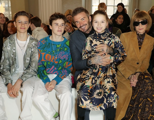 Romeo, Cruz, David, Harper Beckham & Anna Wintour