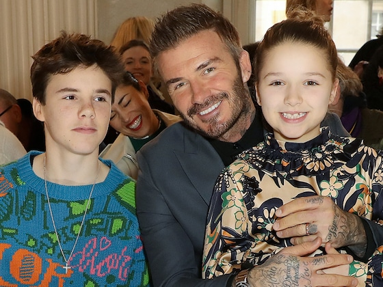 Victoria Beckham's Husband David Beckham and Kids Cheer Her on at Fashion Show