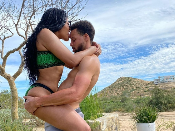 Ayesha Curry Straddles Stephen Curry in Sexy Vacation Photo