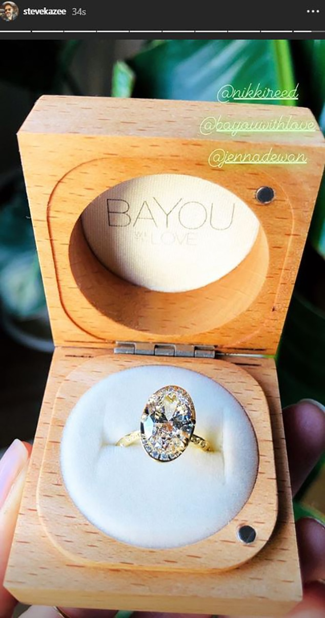 Steve Kazee, Jenna Dewan, Engagement Ring