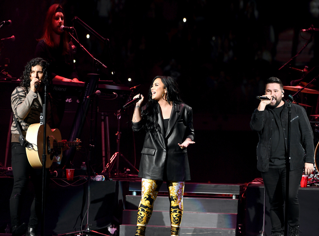 Super Bowl 2020 star sightings, Dan Smyers, Demi Lovato and Shay Mooney
