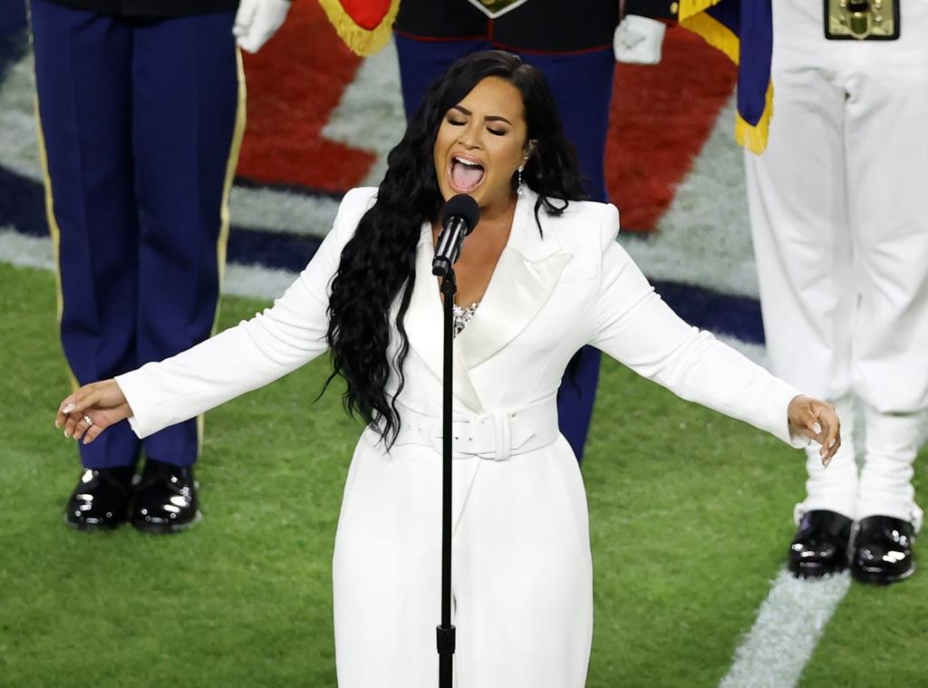 Demi Lovato, 2020 Super Bowl, national anthem