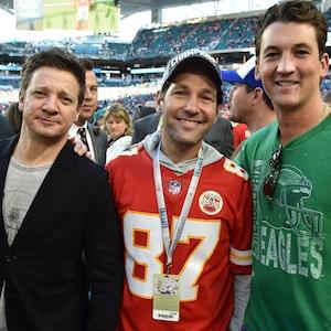 Jeremy Renner, Paul Rudd, Miles Teller, 2020 Super Bowl