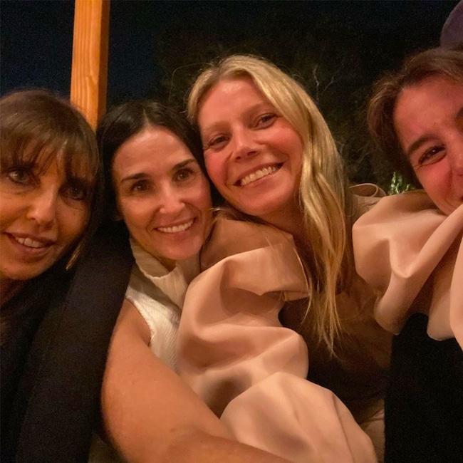 Gwyneth Paltrow, Demi Moore, Henrietta Conrad, Daun Dees, Makeup-Free Goop Party