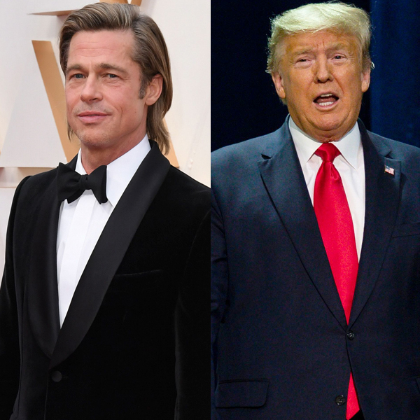 President Donald Trump Calls Brad Pitt a Wiseguy at Campaign Rally