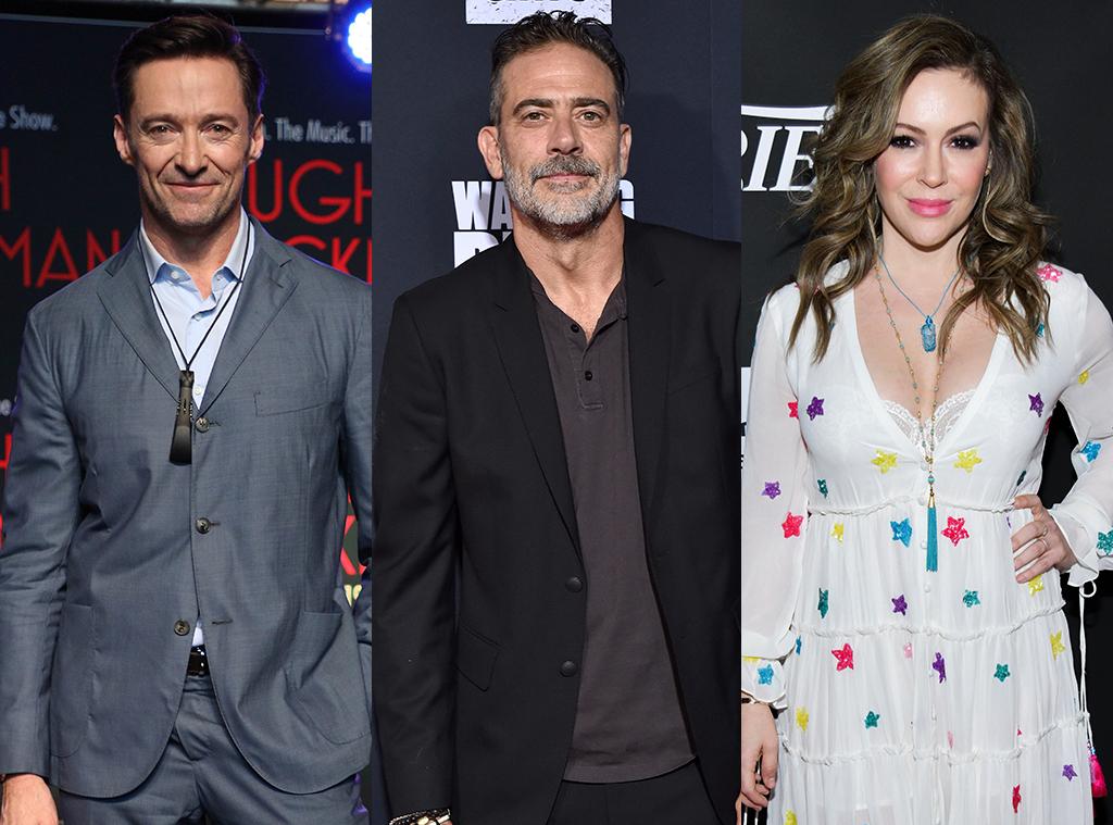Hugh Jackman, Jeffrey Dean Morgan, Alyssa Milano