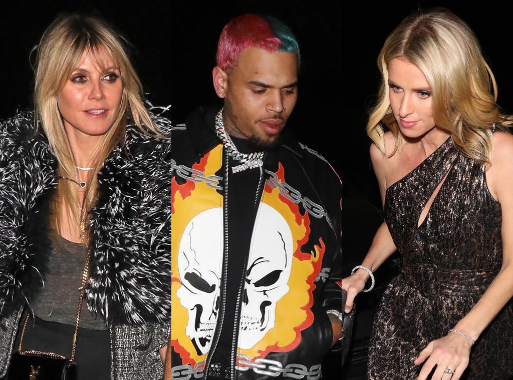 Heidi Klum, Chris Brown, Nicky Hilton, Paris Hilton's Birthday