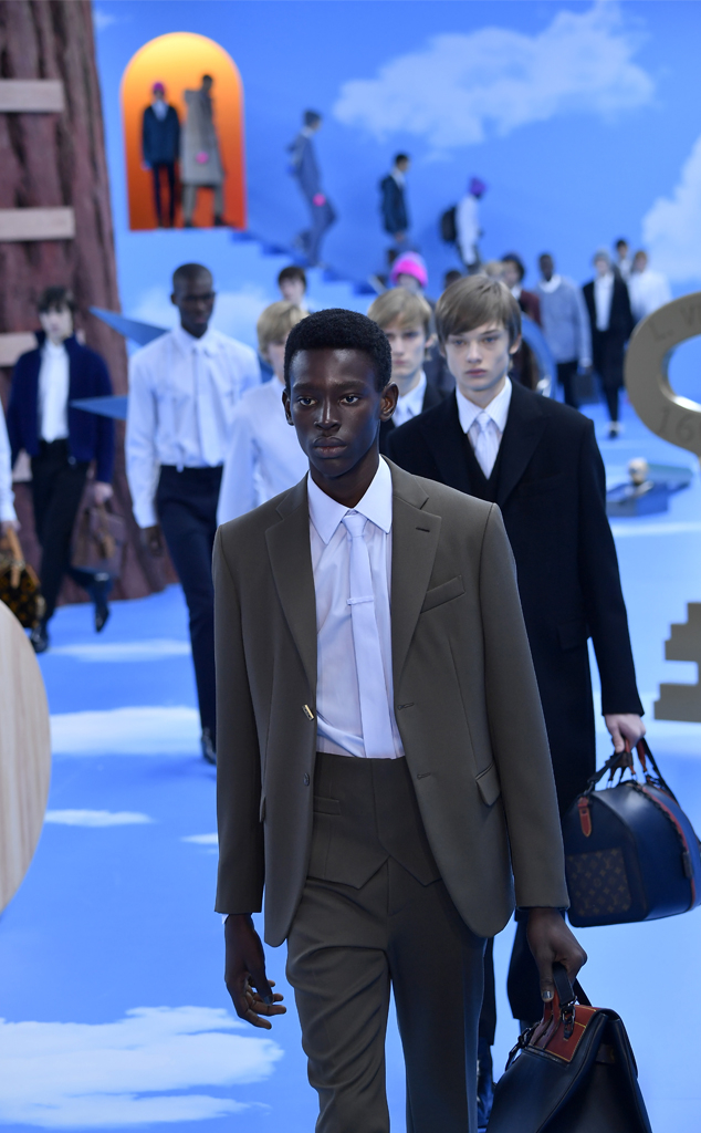 Models, Louis Vuitton Menswear Paris Fashion Week
